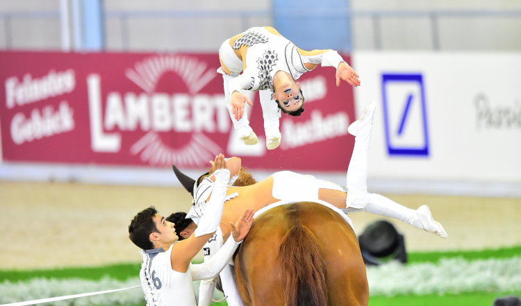 Horse Times Egypt: Equestrian Magazine :Event News :FEI EUROPEAN VAULTING CHAMPIONSHIPS AACHEN 2015: SWITZERLAND'S JÄISER TAKES FEMALE TITLE, GERMANY WINS SQUAD