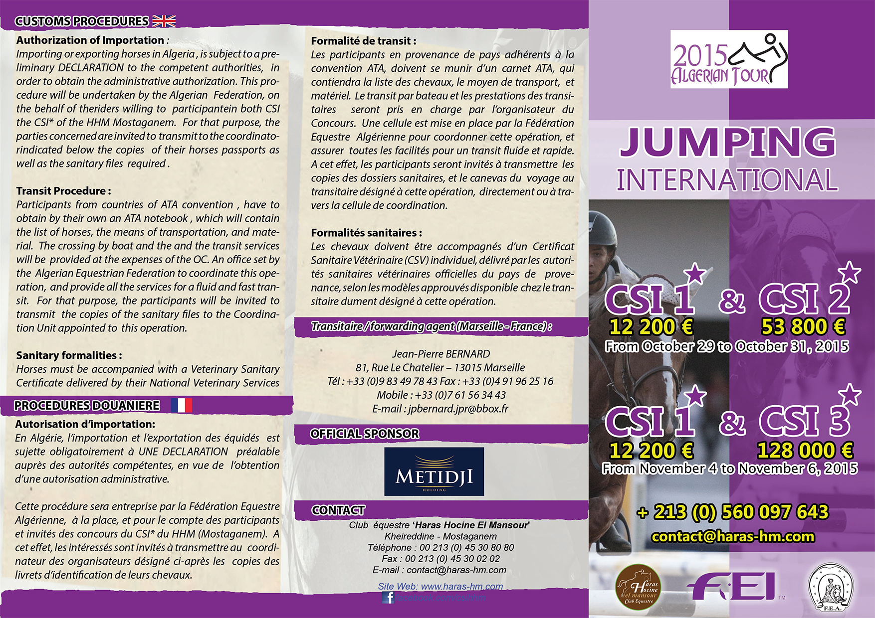 Horse Times Egypt: Equestrian Magazine :events :Algerian Tour 2015