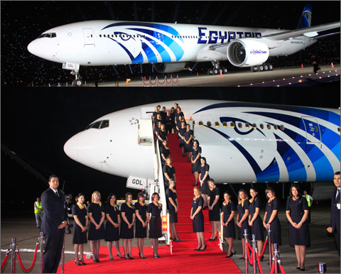 Horse Times Egypt: Equestrian Magazine :News :EGYPTAIR Celebrates the Delivery of the First B777-300ER