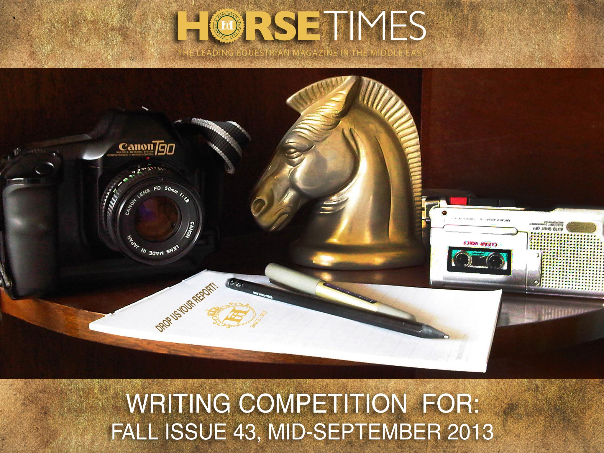 Horse Times Egypt: Equestrian Magazine :News :HORSE TIMES FALL ISSUE 43 WRITING COMPETITION