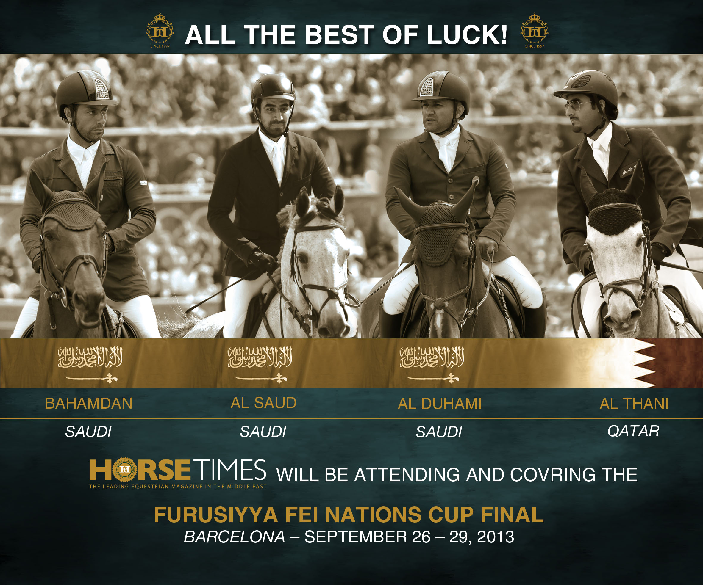 Horse Times Egypt: Equestrian Magazine :News :SPECTACULAR LINE-UP FOR INAUGURAL FURUSIYYA FINAL
