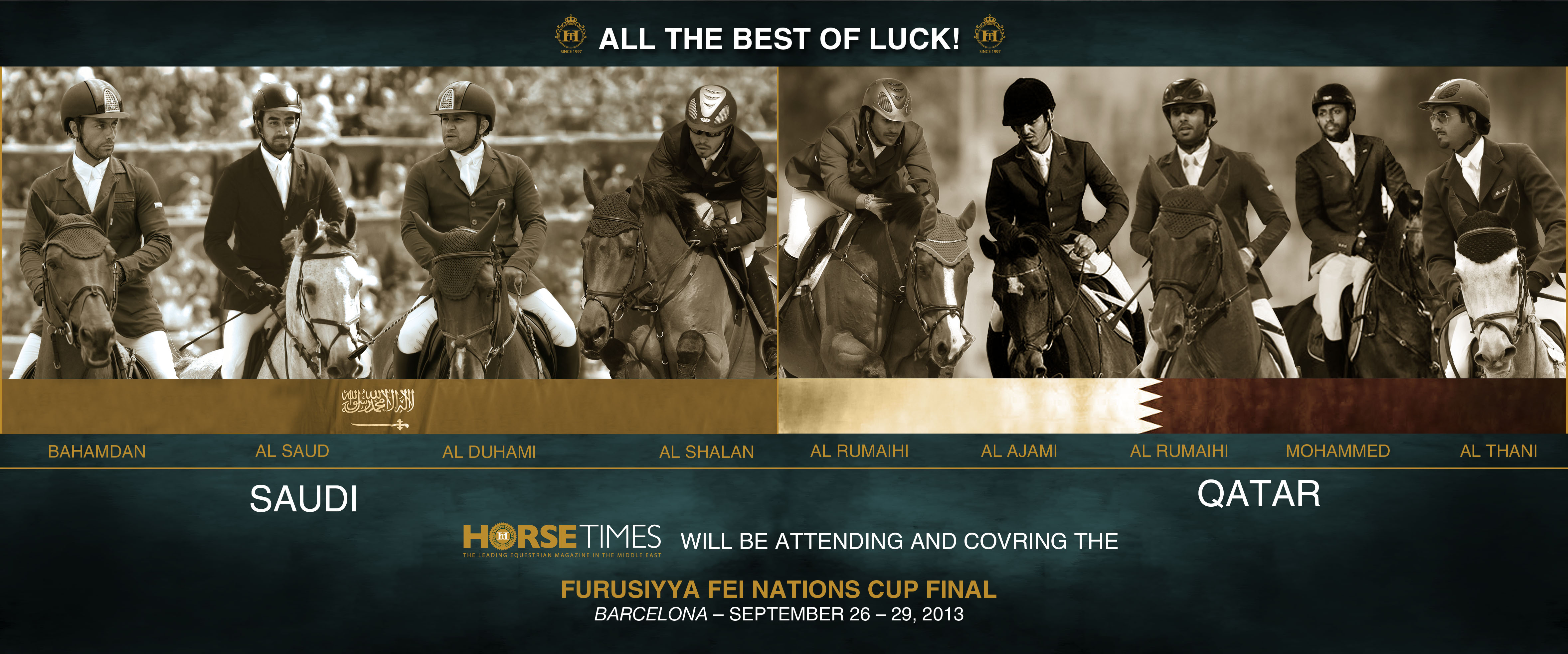Horse Times Egypt: Equestrian Magazine :News :THE STAGE IS SET AND EXCITEMENT IS MOUNTING AHEAD OF FABULOUS FURUSIYYA FINAL