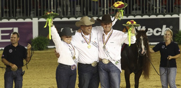 Horse Times Egypt: Equestrian Magazine :News :THE US DREAM TEAM DOMINATES THE PODIUM IN THE REINING INDIVIDUAL FINALS AT THE ALLTECH FEI WORLD EQUESTRIAN GAMES 2014 IN NORMANDY