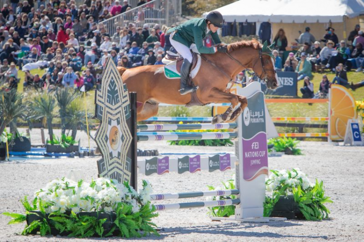 Horse Times Egypt: Equestrian Magazine :News :IRISH ON FIRE AT FURUSIYYA NATIONS CUP OPENER IN FLORIDA
