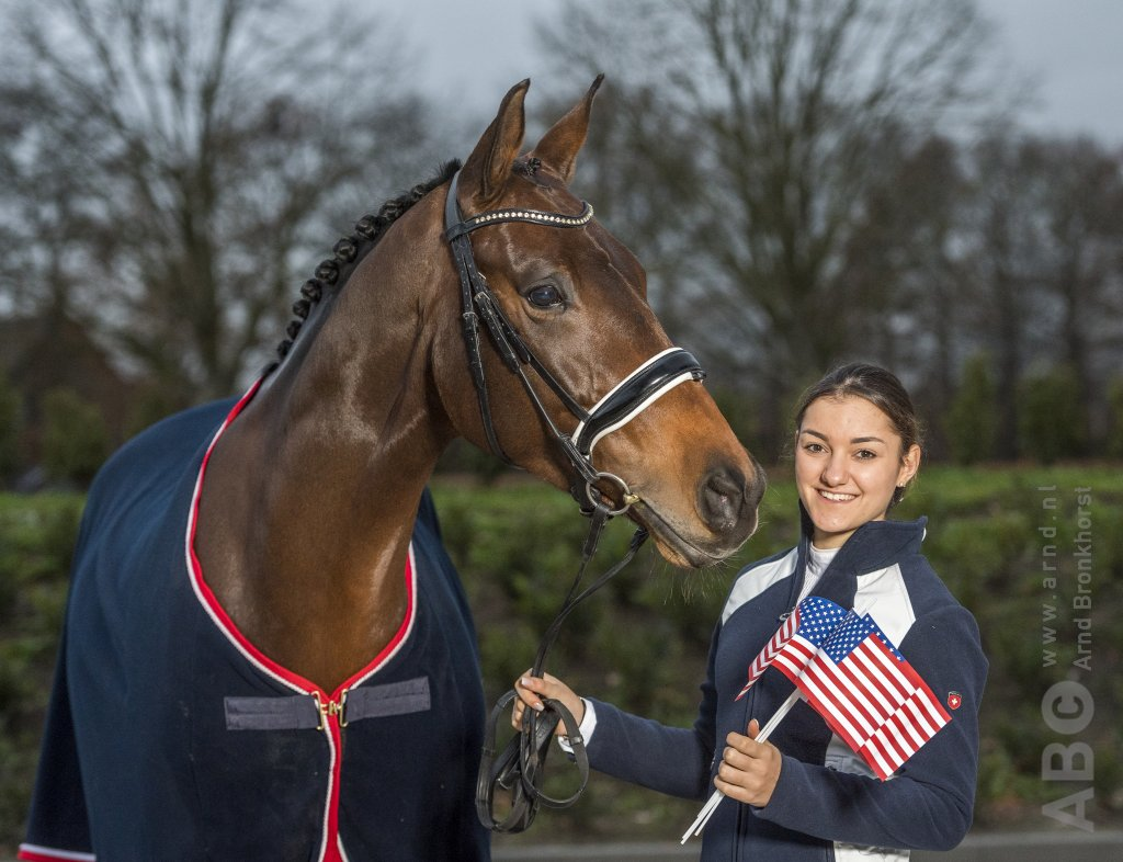 Horse Times Egypt: Equestrian Magazine :News :DRESSAGE RIDER LINA UZUNHASAN CHOOSES TO RIDE FOR THE USA